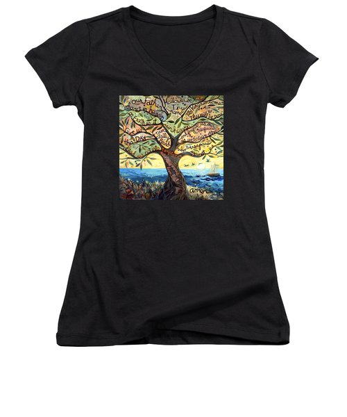 Our Father Women's V-Neck T-Shirt