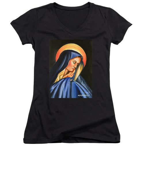 Our Lady Of Sorrows Women's V-Neck T-Shirt