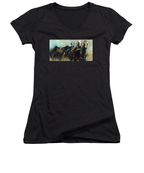 Out Of The Blue Into Reality Women's V-Neck