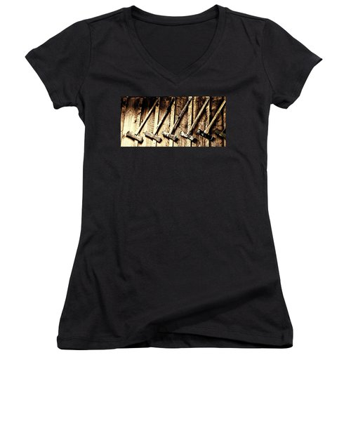 Aaron Berg Women's V-Neck T-Shirt (Junior Cut) featuring the photograph Pick One by Aaron Berg