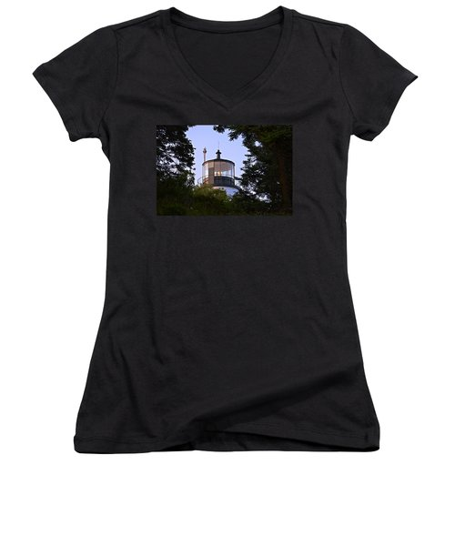 Owl's Head In The Trees Women's V-Neck