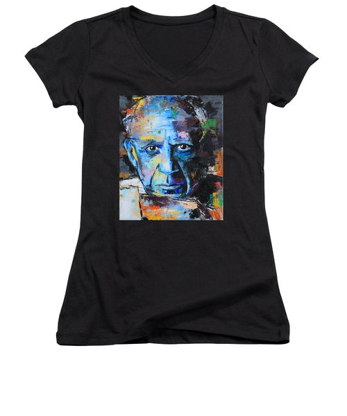 Pablo Picasso Women's V-Neck T-Shirt (Junior Cut) by Richard Day