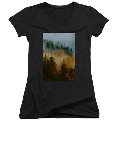 Pacific Northwest Morning Mist Women's V-Neck