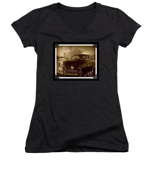 Packard Classic At Truckee River Women's V-Neck T-Shirt (Junior Cut) by Bobbee Rickard
