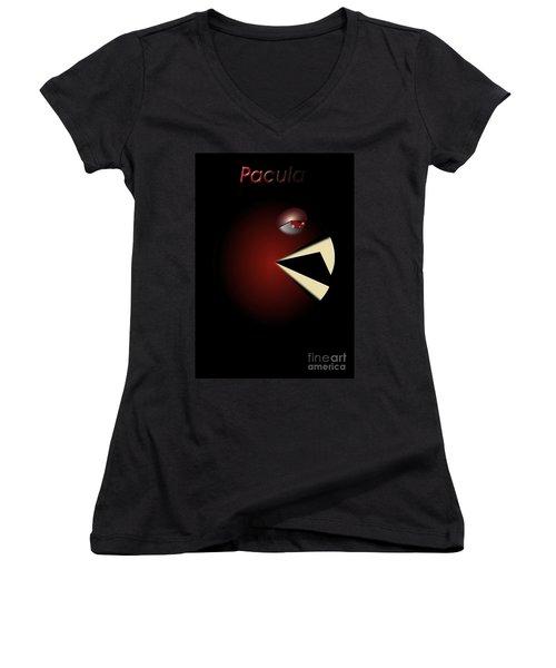 Women's V-Neck T-Shirt (Junior Cut) featuring the digital art Pacula by R Muirhead Art