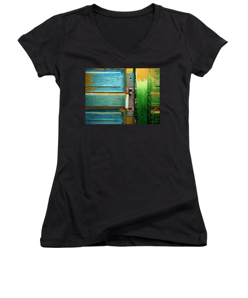 Painted Doors Women's V-Neck T-Shirt