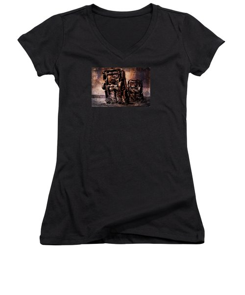 Panic Break Women's V-Neck T-Shirt