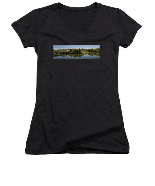 Panoramic Landscape Women's V-Neck T-Shirt