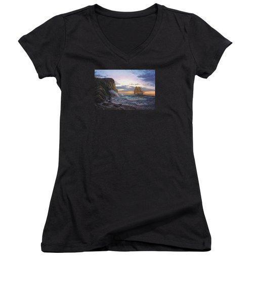 Paradise Cove And The Lightning  Women's V-Neck