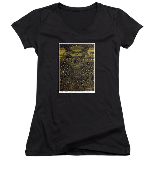 Paradise Of Holy Sakyamuni Women's V-Neck T-Shirt