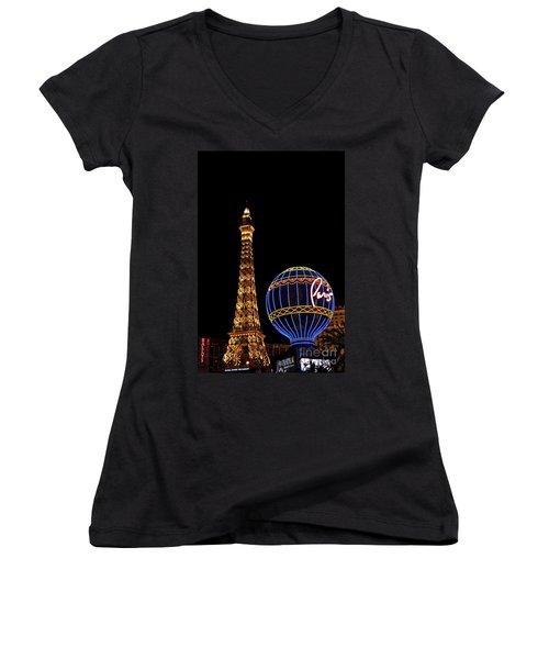 Paris In Vegas Women's V-Neck