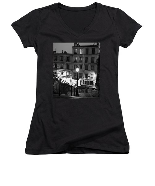 Paris-steps-montmartre Women's V-Neck