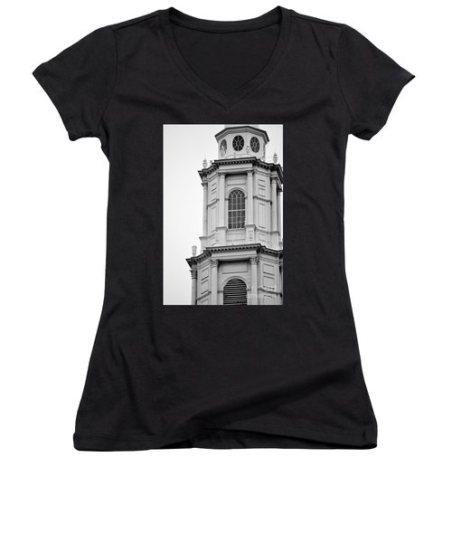 Park Street Church Boston Women's V-Neck (Athletic Fit)