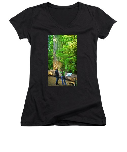 Park Visitors Women's V-Neck