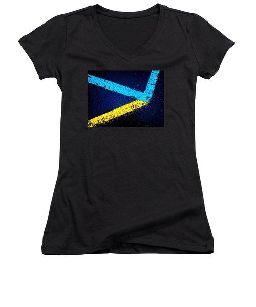 Parking Lot Women's V-Neck T-Shirt (Junior Cut) by Daniel Thompson