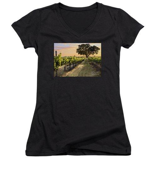 Paso Vineyard  Women's V-Neck T-Shirt