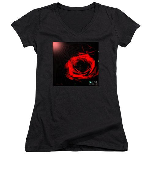 Passion. Red Rose Women's V-Neck