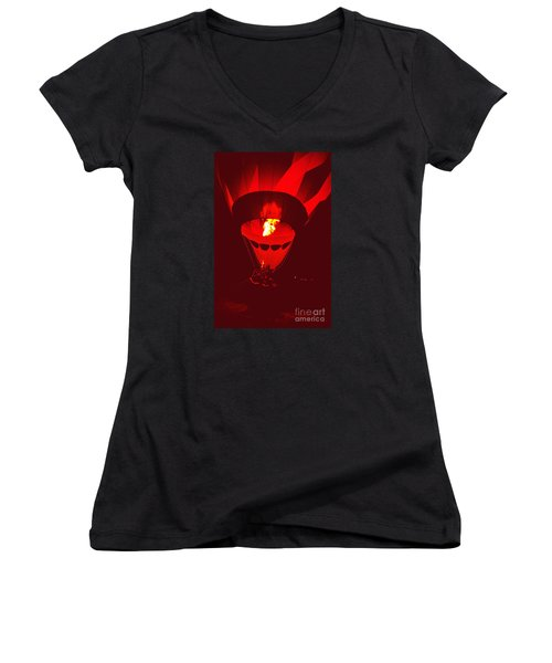 Passion's Flame Women's V-Neck
