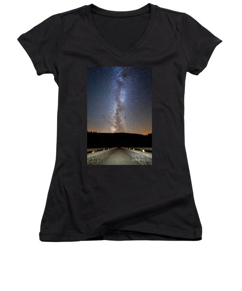 Path To Our Galaxy   Women's V-Neck T-Shirt (Junior Cut)
