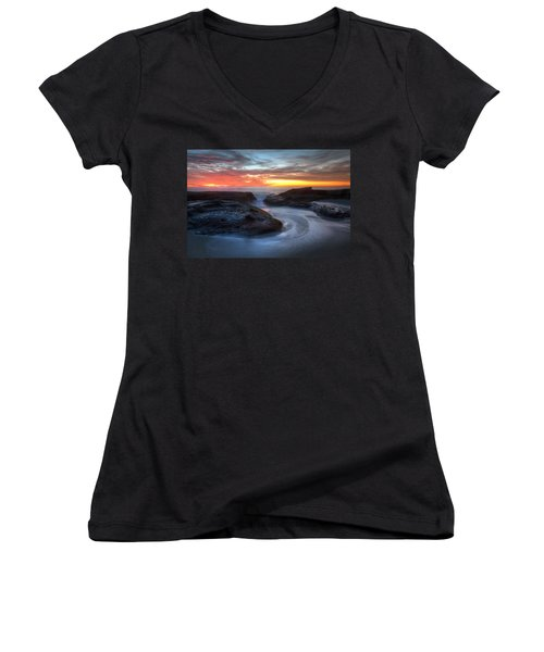 Path To The Sea Women's V-Neck
