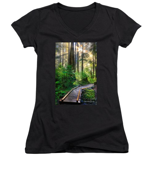 Pathway Into The Light Women's V-Neck (Athletic Fit)