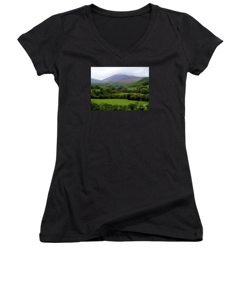 Peace On The Emerald Isle Women's V-Neck T-Shirt (Junior Cut) by Patricia Griffin Brett