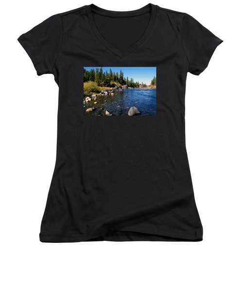 Peace On The Spokane River 2 Women's V-Neck