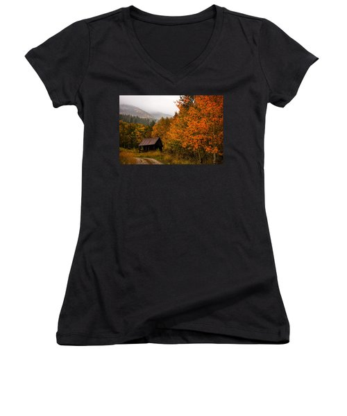 Women's V-Neck T-Shirt (Junior Cut) featuring the photograph Peaceful by Ken Smith