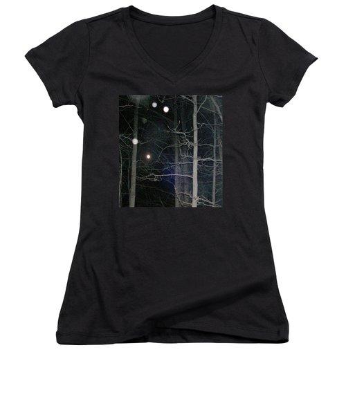 Women's V-Neck T-Shirt (Junior Cut) featuring the photograph Peaceful Spirits Passing by Pamela Hyde Wilson