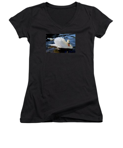 Peaceful Swan Women's V-Neck T-Shirt