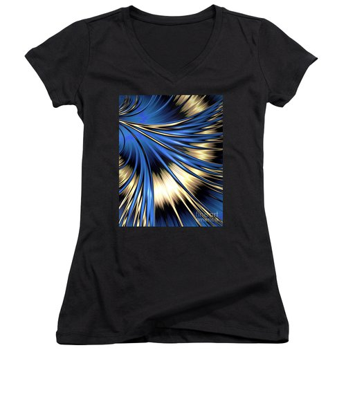 Peacock Tail Feather Women's V-Neck