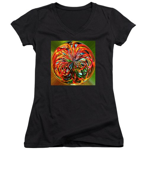 Pencil Tree Ball Women's V-Neck T-Shirt