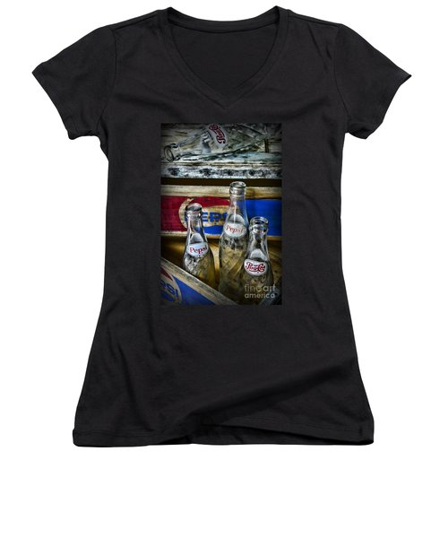 Pepsi Bottles And Crates Women's V-Neck T-Shirt