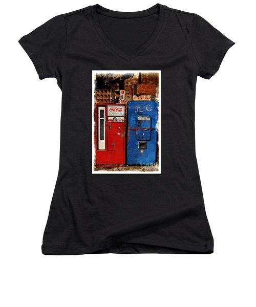 Pepsi Women's V-Neck T-Shirt (Junior Cut) by Mary Machare