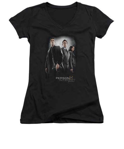 Person Of Interest - Cast Women's V-Neck (Athletic Fit)