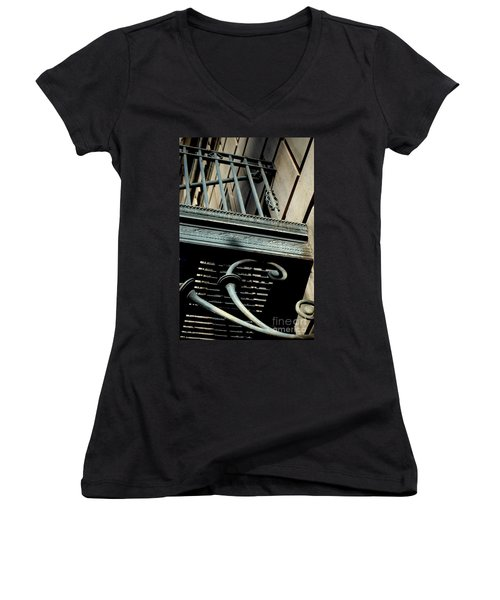 Women's V-Neck T-Shirt featuring the photograph Perspective by Christiane Hellner-OBrien