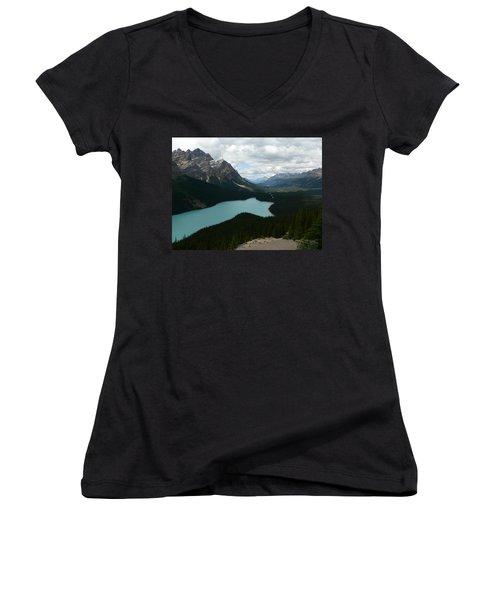 Peyote Lake In Banff Alberta Women's V-Neck