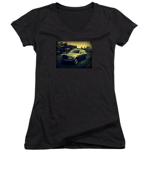 Rolls Royce Phantom Women's V-Neck T-Shirt (Junior Cut) by Salman Ravish