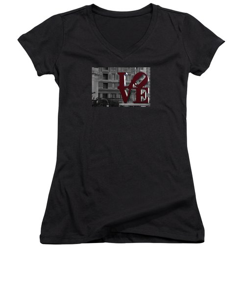 Philadelphia Love Women's V-Neck (Athletic Fit)