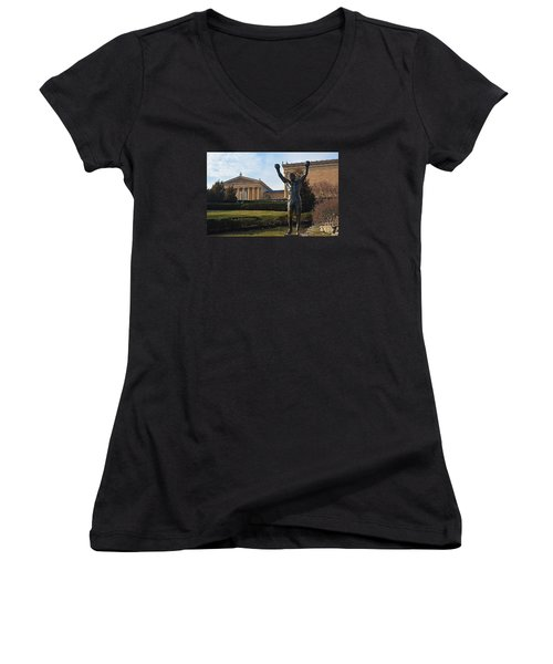Philadelphia - Rocky  Women's V-Neck T-Shirt