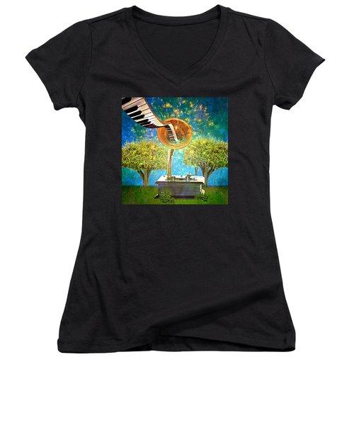 Phonograph Magic Women's V-Neck T-Shirt