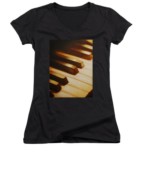 Piano Women's V-Neck