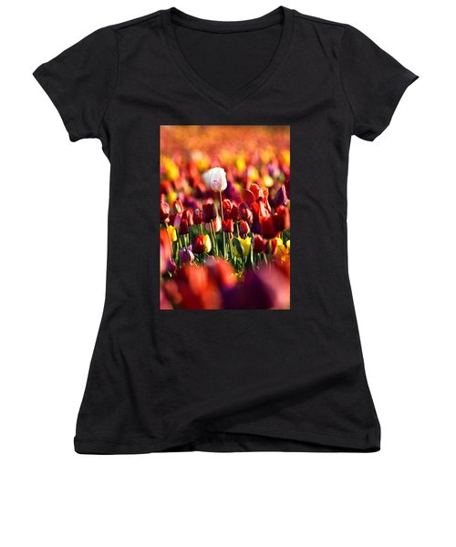 Pick Me Women's V-Neck T-Shirt (Junior Cut) by Ronda Kimbrow