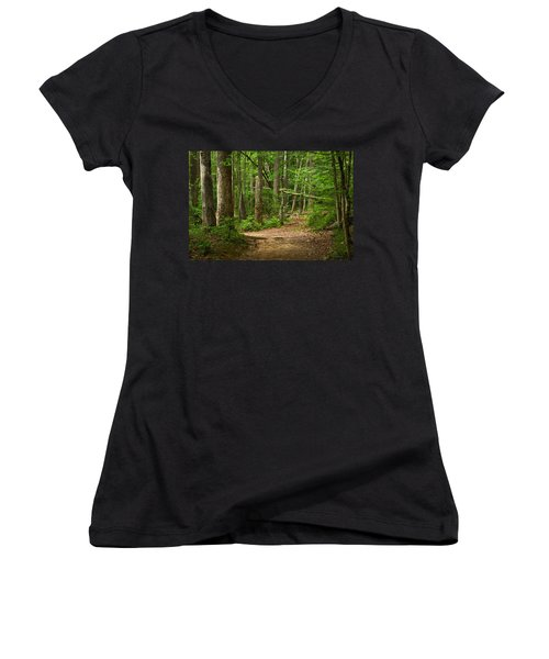Pinewood Path Women's V-Neck (Athletic Fit)