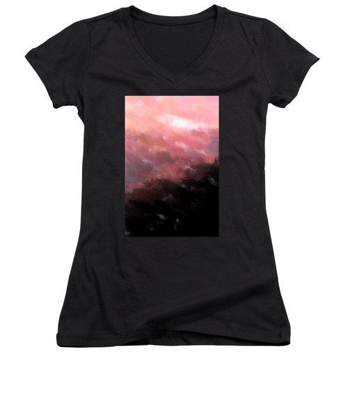 Pink Clouds Women's V-Neck