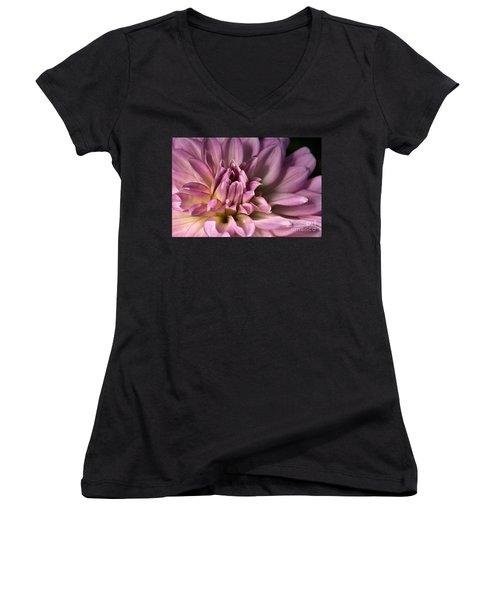 Pink Dahlia's Dream Women's V-Neck