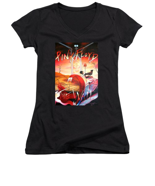 Pink Floyd The Wall Women's V-Neck T-Shirt