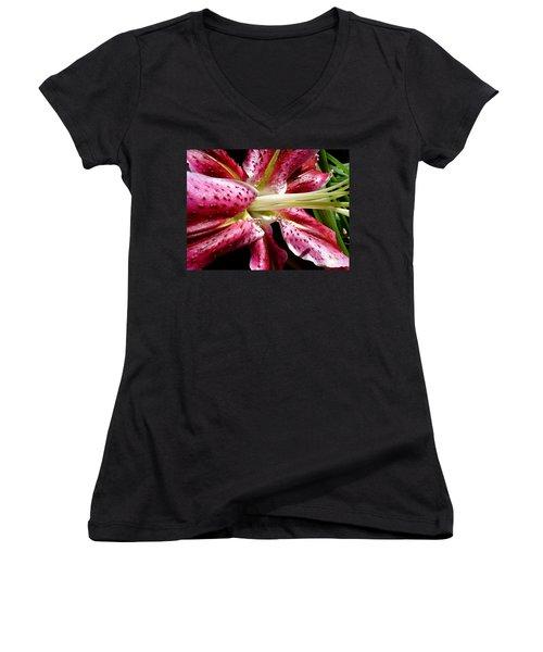 Pink Lily Macro Women's V-Neck