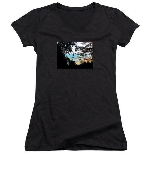 Women's V-Neck T-Shirt (Junior Cut) featuring the photograph Picturesque by Amar Sheow