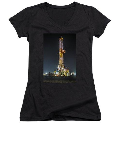 Pioneer Drill Rig # 77 Women's V-Neck T-Shirt